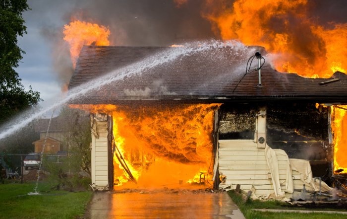 Checking for proper fire protection between the garage and home